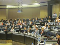 International delegates from the legal fraternity in the Conference Hall