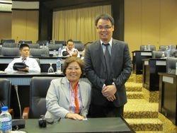 With Professor Yang Liyan Professor of School of Law, Guangxi Normal University