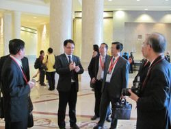 At lobby with delegates