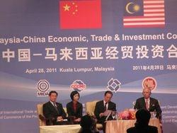 Chinese Premier Wen Jiabao and Malaysian PM Najib Razak
