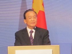 Viewing Premier Wen Jiabao from Interpreter's booth
