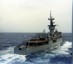 USS Miller overtaking the USS Connole