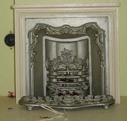 Battlement House fireplace 1