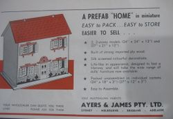 Screen printed plywood dolls house November 1950