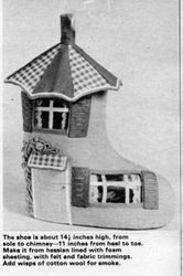 Close up of the shoe house by Jean Greenhowe