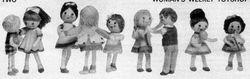 Girl dolls by Jean Greenhowe
