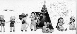 Cowboy, nurse, tepee and cradle by Jean Greenhowe