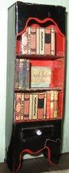 Black laquer card bookcase