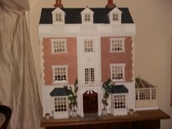 Front of Bren's large dolls house