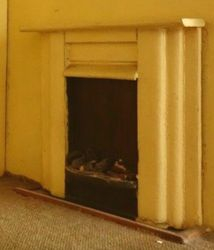 Detail of the fireplace