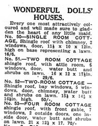 Dolls houses sold in 1931