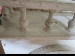 Closeup of balcony balusters