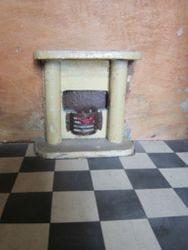 Detail of fireplace, lower right room