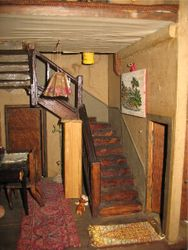 Cupboard house stairs