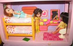 Dolly Darlings in the Blue-Box bedroom