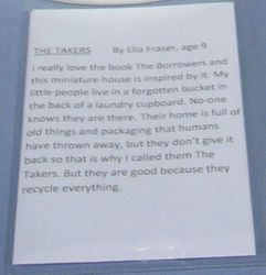 Fair exhibits- The Takers story