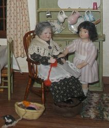 Fair exhibits- Milly-Molly-Mandy room, grandmother & MMM