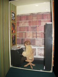 Fair exhibits- a book & time roombox, inner room