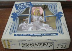 The end of the box clearly states that she's a bridesmaid