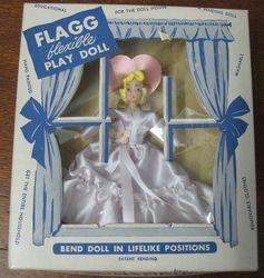Boxed Flagg bridesmaid doll