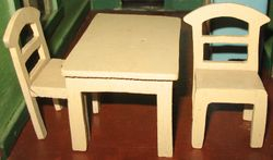 1920s homemade kitchen table & chairs