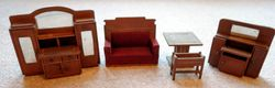 Set of Wallach & Co furniture, without chairs
