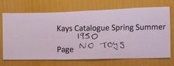 1950 Kays Spr-Sum catalogue