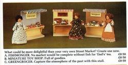 Fishmonger, Miniature Toy Shop & Greengrocer