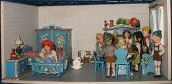 A Bodo Hennig Roombox with Dora Kuhn Furniture and Erna Meyer dolls