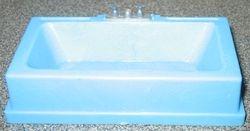 Linda blue bath