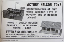 Victory Nelson Toys ad, 1963