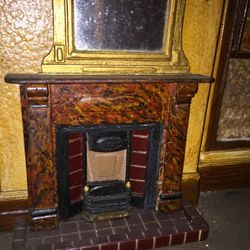 Left ground floor fireplace