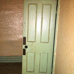 Left upstairs door
