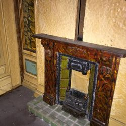 Right ground floor fireplace