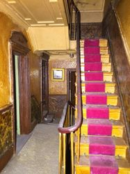 Staircase and hall, first floor