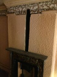 Right upper room, fireplace and gap for overmantel