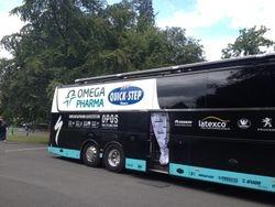 Omega Team Bus at team Hotel