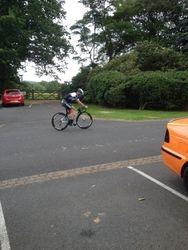 Cav testing his bike again and again