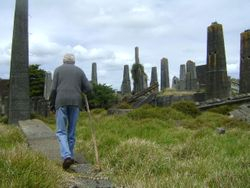 Grandad working amongst the ruins-Limestone Island