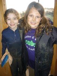 Muddy cubs after potholing.