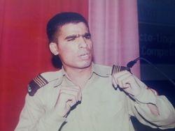 Mir Iqbal making Declamation at Cadet Collge