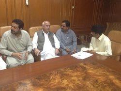 Babu Sherdil Mugheri & Zia-ul-Haq Mugheri with CM Baluchistan (2014)
