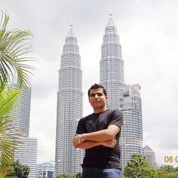 Mir Iqbal at Patronas Twin Towers KualaLumpur Malaysia