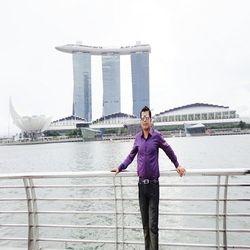 Mir Iqbal at Marina Bay Singapore