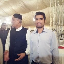 Mir Iqbal with Syed Khurshid Shah (Minister)