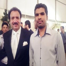 Mir Iqbal with Pakistan's Home Minister