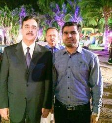 Mir Iqbal with Ex-Prime Minister of Pakistan (S.Yusuf Raza Gilani)