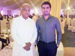 Mir Iqbal with Renowned Sindhi Poet A.G Tabbasum at Defence Creek Club