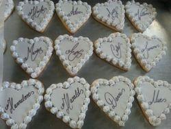Heart Shaped Wedding Cookies