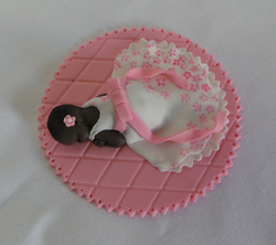 Pink Baptism Baby Topper